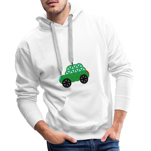The Car Of Life - M02, Sacred Shapes, Green/363 - Men's Premium Hoodie