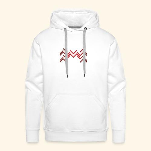 Lineas burdeos - Sudadera con capucha premium para hombre