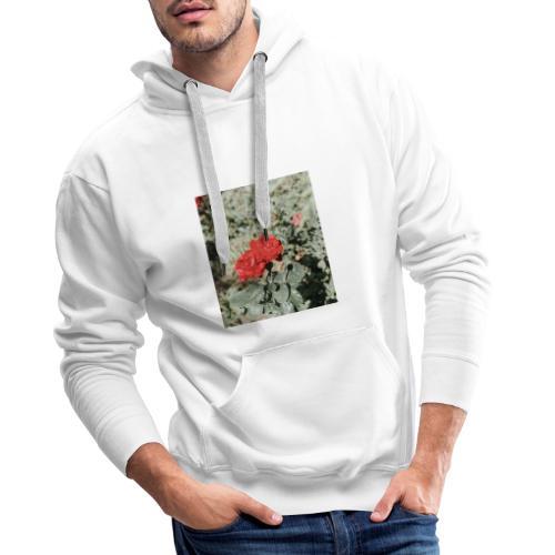 Red rose - Herre Premium hættetrøje