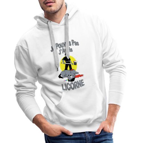 Je Pouvais pas j'avais Licorne (je peux pas j'ai) - Sweat-shirt à capuche Premium pour hommes