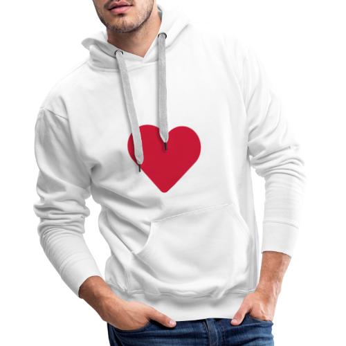 Deck of Cards heart - Men's Premium Hoodie