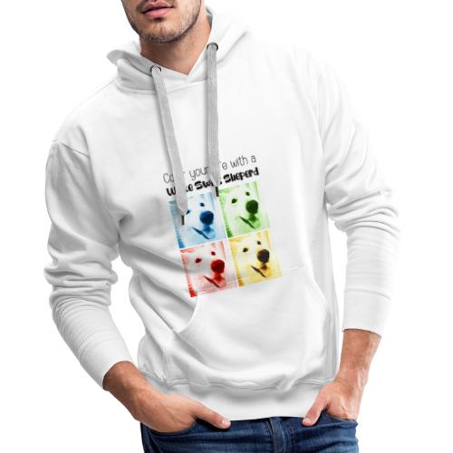 Color your life with a White Swiss Sheperd - Sweat-shirt à capuche Premium pour hommes