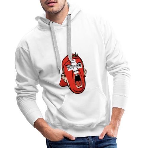 Yelling Swiss Face - Männer Premium Hoodie