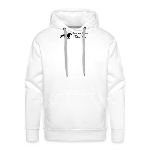 Go for your dream - Sweat-shirt à capuche Premium pour hommes