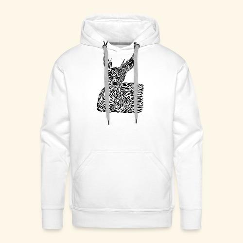 deer black and white - Miesten premium-huppari