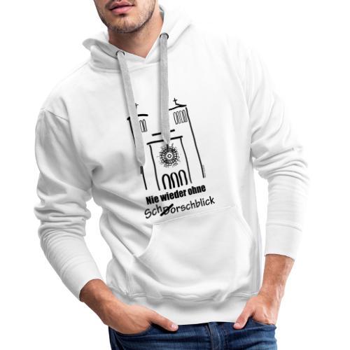 Schorschblick schwarz - Männer Premium Hoodie