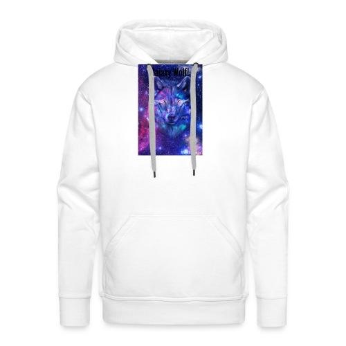 Galaxy wolf t-shirt - Men's Premium Hoodie