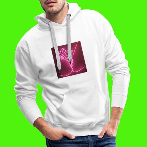 T-shirt med neon hand - Premiumluvtröja herr