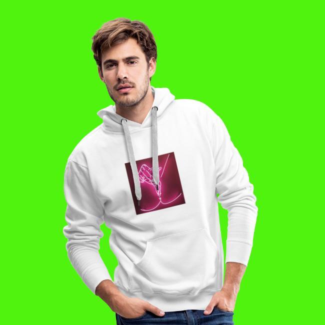 T-shirt med neon hand