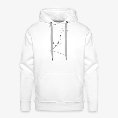 Femme Minimaliste - Sweat-shirt à capuche Premium pour hommes
