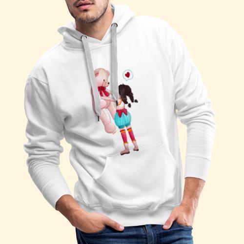 Fille au Nounours géant - Sweat-shirt à capuche Premium pour hommes