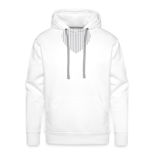 heart_striped.png - Men's Premium Hoodie