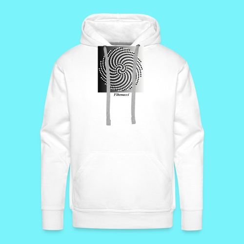 Fibonacci spiral pattern in black and white - Men's Premium Hoodie