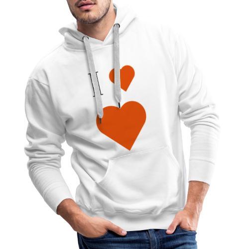 I Heart heart - Men's Premium Hoodie