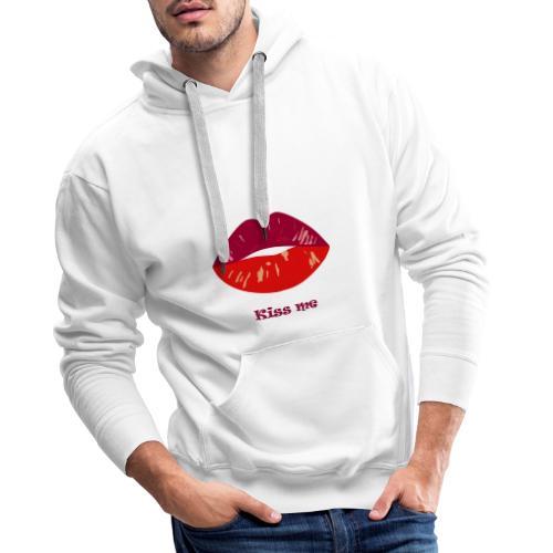 kiss me - Sweat-shirt à capuche Premium pour hommes