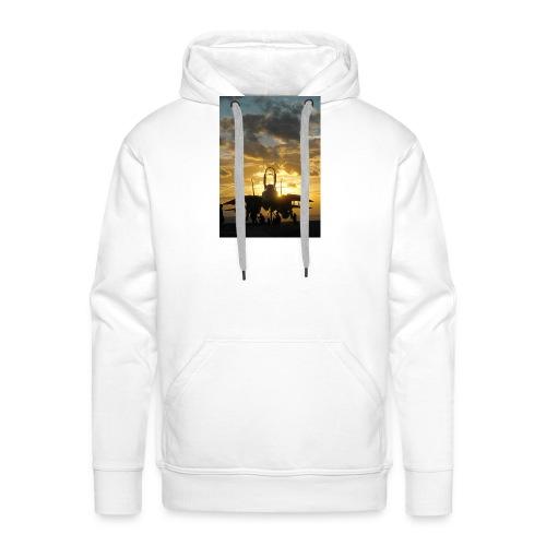 tomcat sunset - Sudadera con capucha premium para hombre