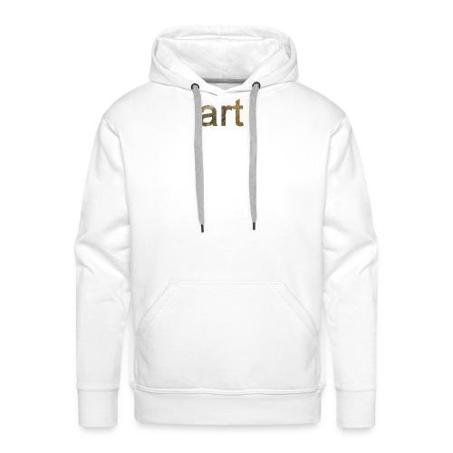 art - Sweat-shirt à capuche Premium pour hommes