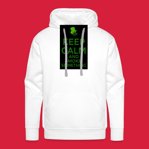 smoke something shirt - Mannen Premium hoodie