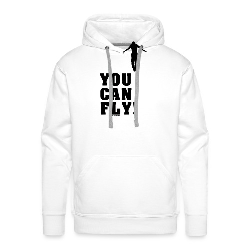 you can fly high BLACK - Sudadera con capucha premium para hombre