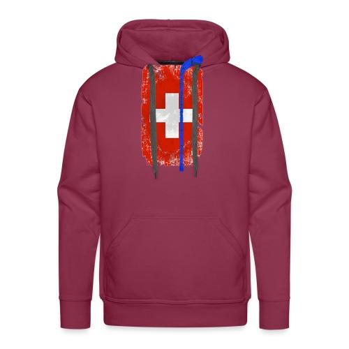 Schweizer Flagge Hockey - Männer Premium Hoodie