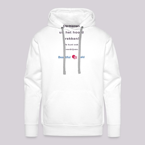 De haren uit je hoofd trekken b - Mannen Premium hoodie