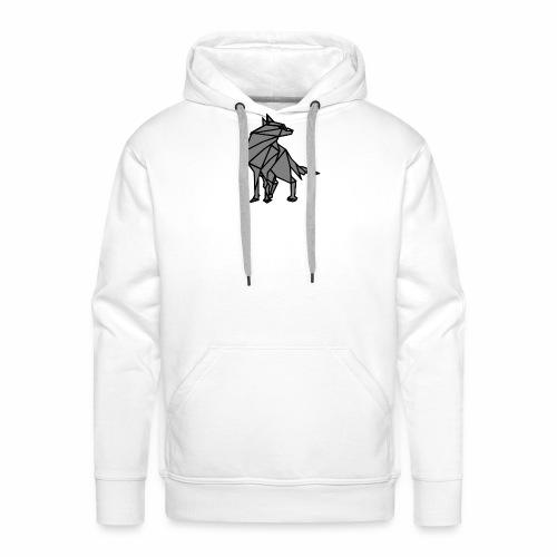 loup geometrique - Sweat-shirt à capuche Premium pour hommes