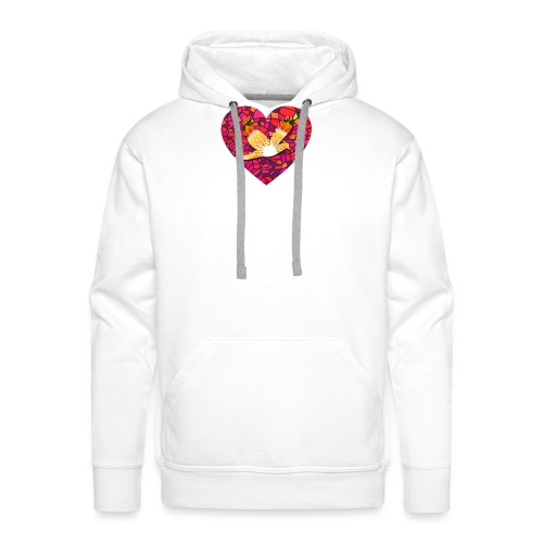Make your heart fly with peace - Men's Premium Hoodie