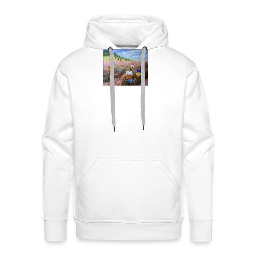 LA CUEILLETTE DES ROSES A GRASSE AUTREFOIS 1mx81 2 - Sweat-shirt à capuche Premium pour hommes