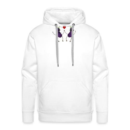 Aubergines qui s'aiment - Sweat-shirt à capuche Premium pour hommes