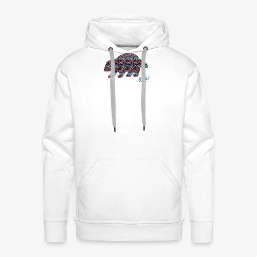 Ourson colore - Sweat-shirt à capuche Premium pour hommes