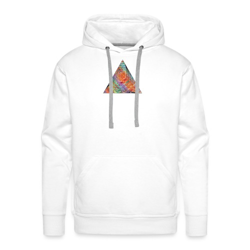 Triangle of twisted color - Men's Premium Hoodie