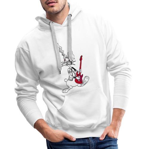 Gitarrenrocker hase kaninchen häschen bunny - Männer Premium Hoodie