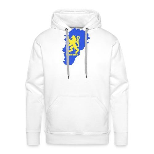 Carte Franche-Comté + lion - Sweat-shirt à capuche Premium pour hommes