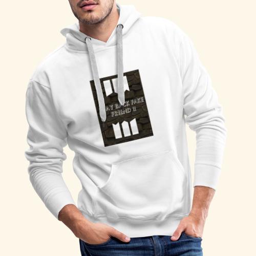 Stay back fake friend !! - Sweat-shirt à capuche Premium pour hommes