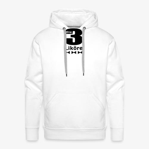 Die 3 Liköre - logo schwarz - Männer Premium Hoodie