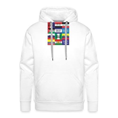 Pray for the World - Mannen Premium hoodie
