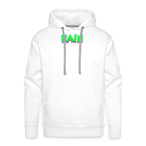 Rain Hoodie 3 White - Sudadera con capucha premium para hombre