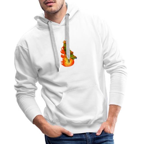 Christmas Flame - Felpa con cappuccio premium da uomo