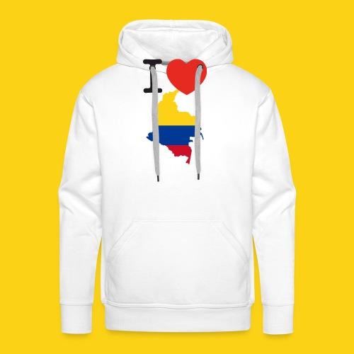 I love Colombia - Felpa con cappuccio premium da uomo