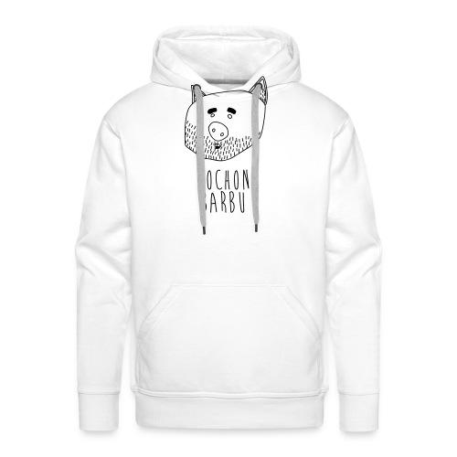 Cochon barbu - Sweat-shirt à capuche Premium pour hommes
