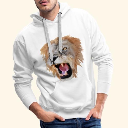 Tête de lion - Sweat-shirt à capuche Premium pour hommes