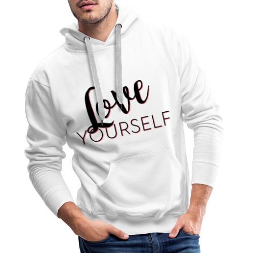 Love Yourself -Schriftzug Pascal Voggenhuber - Männer Premium Hoodie