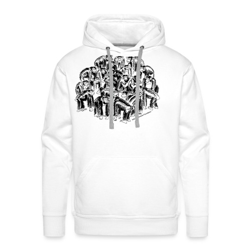 chimpanzee group - Men's Premium Hoodie