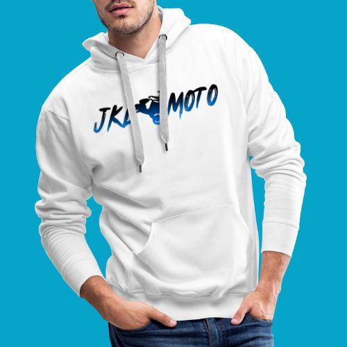 JKLMoto Aerox White - Premiumluvtröja herr