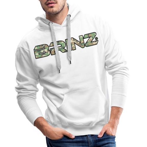 BRINZ Militare - Felpa con cappuccio premium da uomo