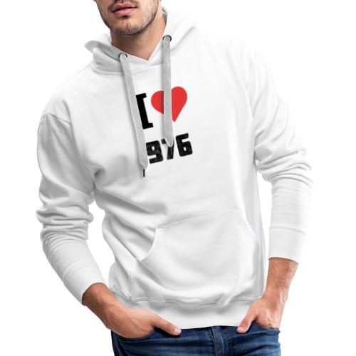 I LOVE MAYOTTE - Sweat-shirt à capuche Premium pour hommes
