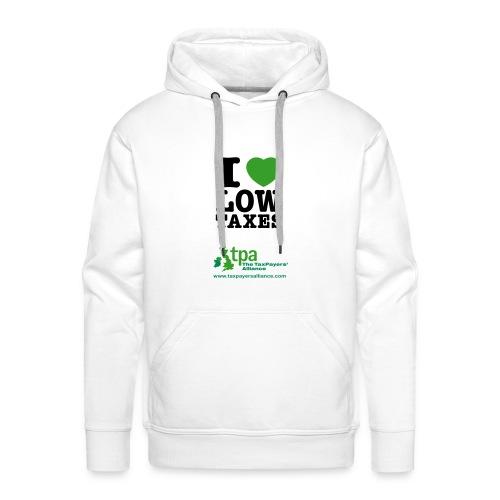 i love low taxes cmyk 2 spots 2 - Men's Premium Hoodie