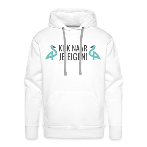 GennepNews - Kijk naar je eigen! - Mannen Premium hoodie