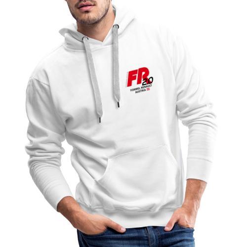 fr logo2021b - schwarze Schrift - Männer Premium Hoodie
