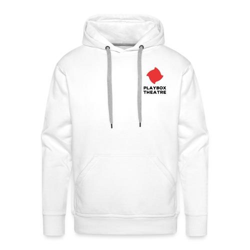 Red Playbox Logo Stacked - Men's Premium Hoodie